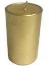 Sviečka 8 hod 5 cm - zlatá
