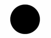 Okrúhla tabuľová nálepka 2,5 cm - čierna