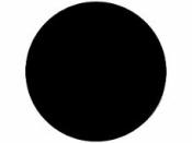 Okrúhla tabuľová nálepka 11,5 cm - čierna