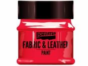 Farba na textil a kožu - 50ml - červená