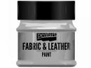 Metalická farba na textil a kožu 50 ml - strieborná