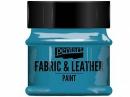 Farba na textil a kožu - 50ml - tyrkysová modrá