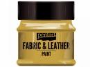 Metalická farba na textil a kožu 50 ml - zlatá