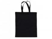 Bavlnená taška 42x38cm - čierna - dlhé rúčky