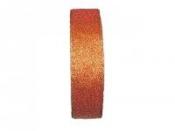 Dekoračná stuha 25mm trblietavá - oranžová