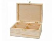 Drevená krabica na čajové vrecúška - 4 priehradková