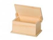 Drevená krabička vyklápacia - 15x9x7,5 cm