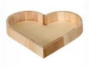 Drevená miska srdce - 21 x 21 x 3 cm