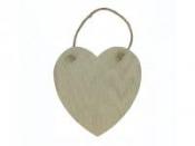Drevená závesná doštička - srdce