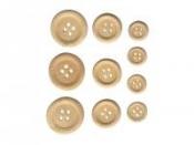 Drevené gombíky na scrapbooking - 30 ks