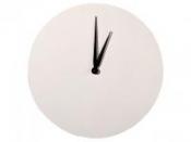 Drevené nástenné hodiny - biele - kruh