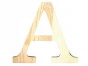 Drevené písmeno 11,5cm - A