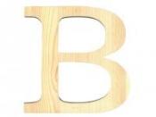 Drevené písmeno 11,5cm - B