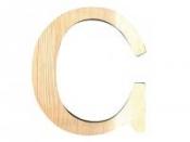 Drevené písmeno 11,5cm - C