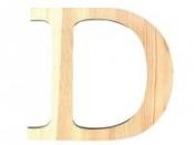 Drevené písmeno 11,5cm - D