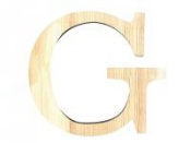 Drevené písmeno 11,5cm - G