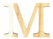 Drevené písmeno 11,5cm - M