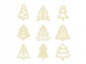 Dýhové výrezy - 27 ks - stromčeky