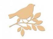 Dýhové výrezy 3 ks - vtáčiky
