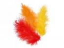 Marabu pierka - 15ks - oranžové