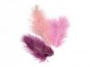Marabu pierka - 15ks - ružové