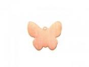 Medený pliešok k smaltovaniu - motýľ