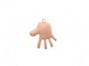 Medený pliešok - ruka