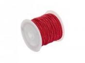 Mohérová šnúrka 2,5mm - červená