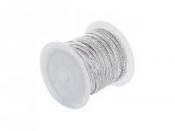 Mohérová šnúrka 2,5mm - svetlá sivá