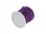 Mohérová šnúrka 2,5mm - tmavá fialová