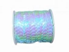Perleťové flitre na šnúrke - pastelové azúrové