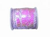 Perleťové flitre na šnúrke - pastelové fialové