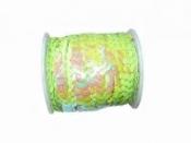 Perleťové flitre na šnúrke - pastelové limetkové