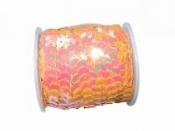 Perleťové flitre na šnúrke - pastelové marhuľové
