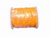 Perleťové flitre na šnúrke - pastelové oranžové
