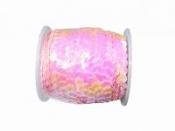 Perleťové flitre na šnúrke - pastelové svetloružové