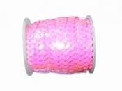 Perleťové flitre na šnúrke - pastelové tmavoružové
