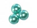 Plastové korálky perličky 8mm 10ks - azúrové