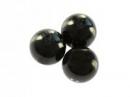 Plastové korálky perličky 8mm 10ks - čierne