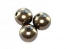 Plastové korálky perličky 8mm 10ks - kávové