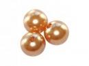 Plastové korálky perličky 8mm 10ks - marhuľové