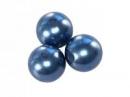 Plastové korálky perličky 8mm 10ks - modré