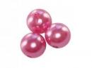 Plastové korálky perličky 8mm 10ks - ružové