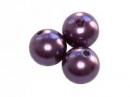 Plastové korálky perličky 8mm 10ks - slivkové