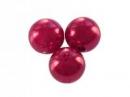 Plastové korálky perličky 8mm 10ks - vínové