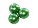 Plastové korálky perličky 8mm 10ks - zelené