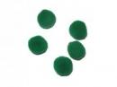 Plyšové POMPOM guličky 2cm - tmavozelené