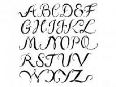 Šablóna 20x27cm - abeceda