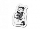 Silikónová pečiatka - snehuliak