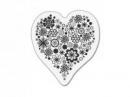 Silikónová pečiatka - srdce